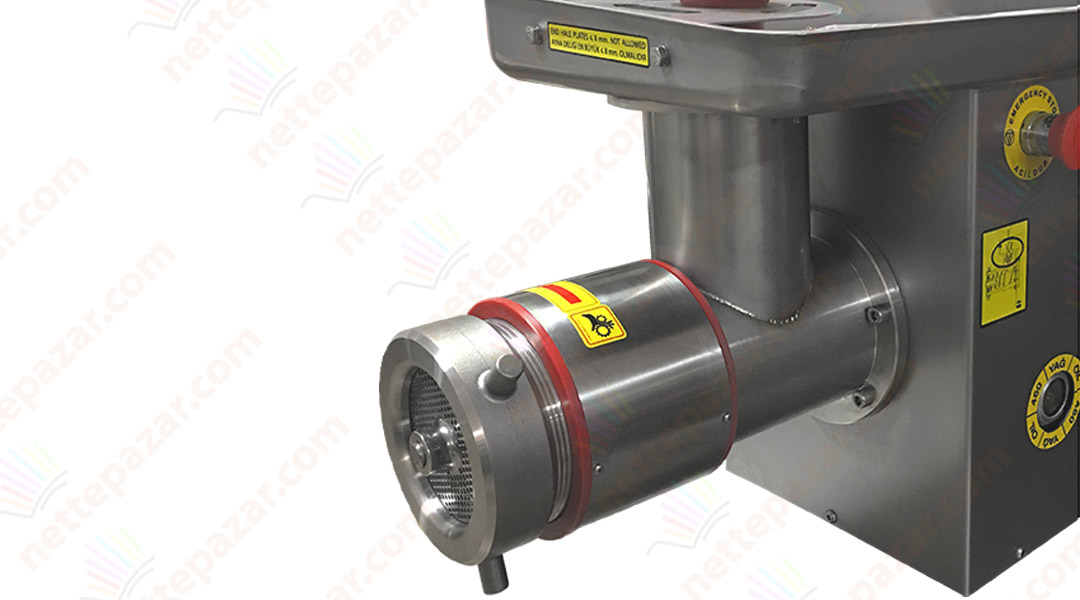 Industrial Meat Grinder With Cooler PKM 32S S Ø 98 Silver
