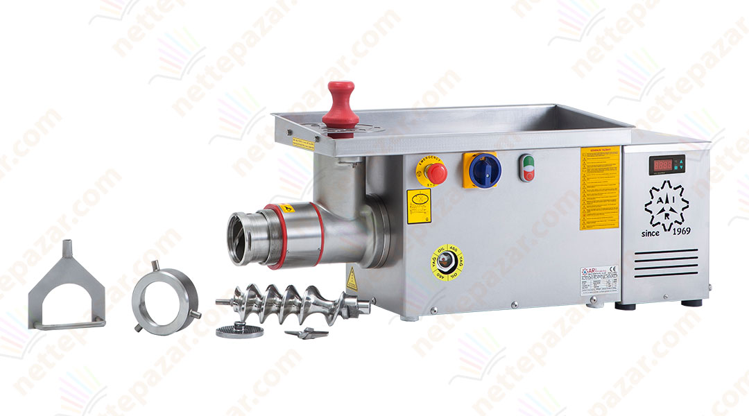 Industrial Meat Grinder With Demountable Groove System and Cooler PKM 32S ST Ø 98