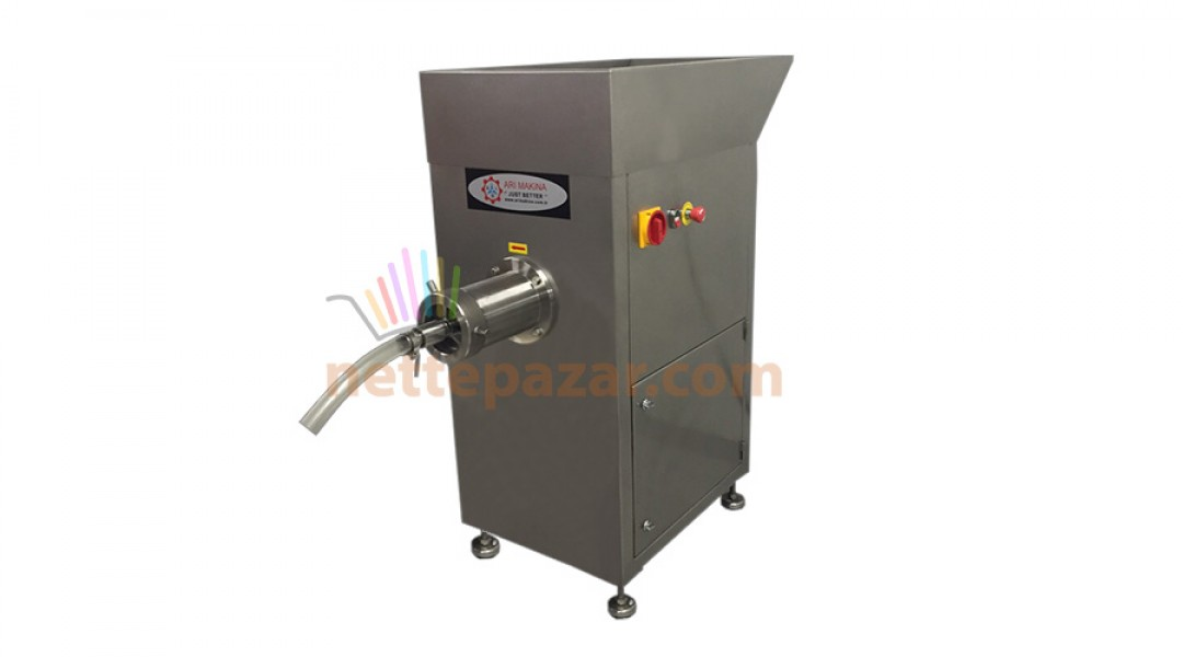 Industrial Meat Grinder with Stand and Large Loading Hopper PKM 42 R Ø 130 For Frozen and Fresh Meat