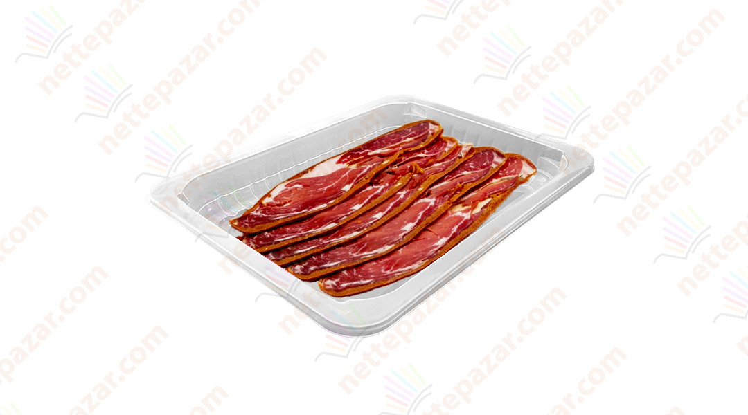 Transparent Food Tray 190x144x17 mm