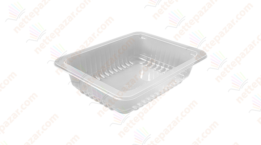 Transparent Food Tray 190x144x50 mm