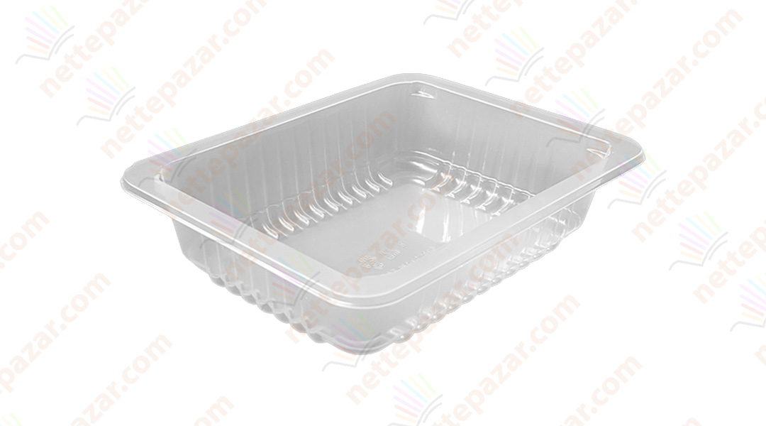 Transparent Food Tray 227x178x50 mm.