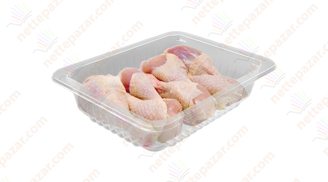 Transparent Food Tray 227x178x40 mm.