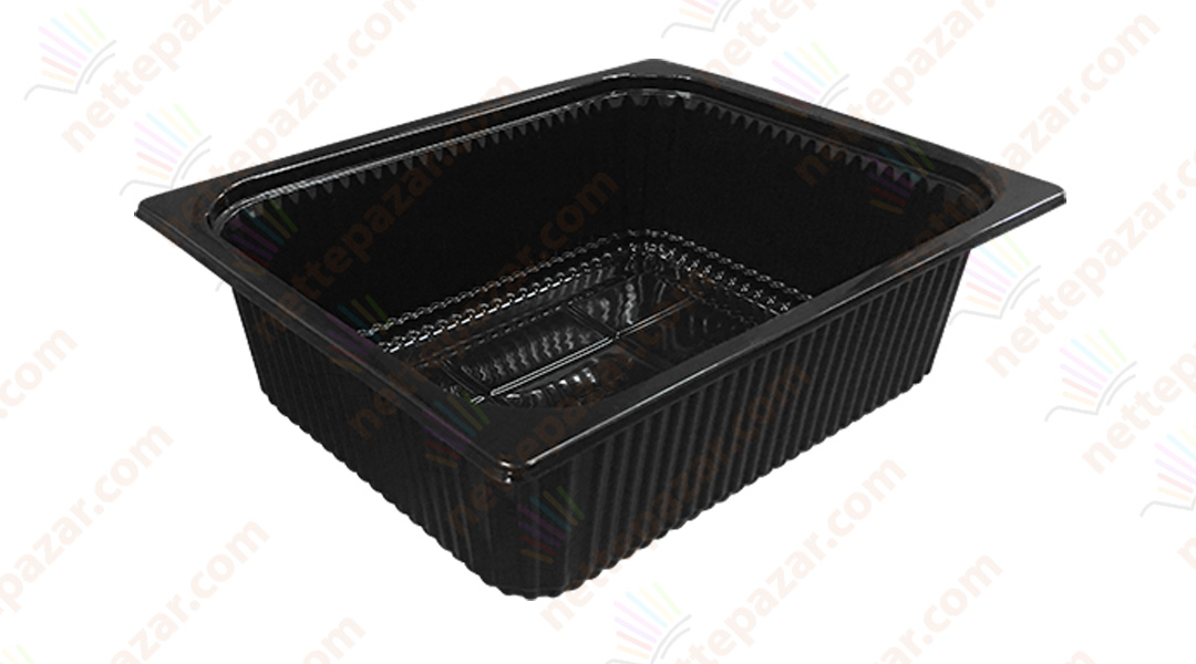 Black Food Tray 325x265x100 mm.
