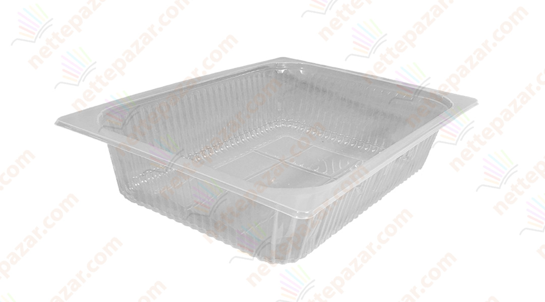 Transparent Food Tray 325x265x65 mm.