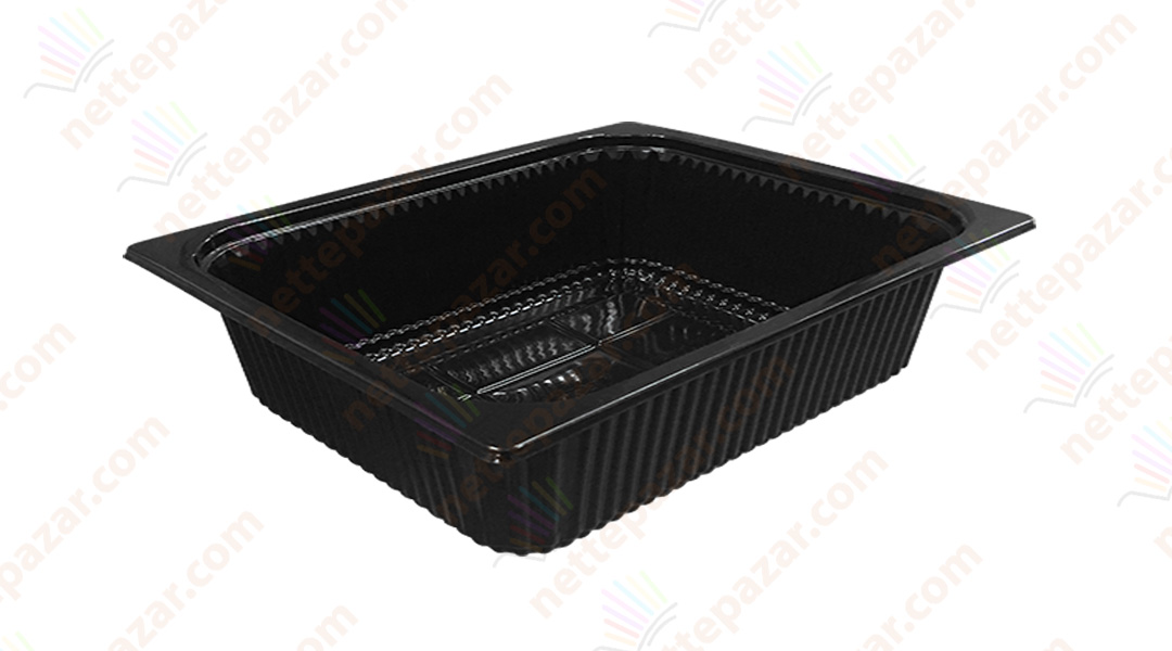 Black Food Tray 325x265x65 mm.