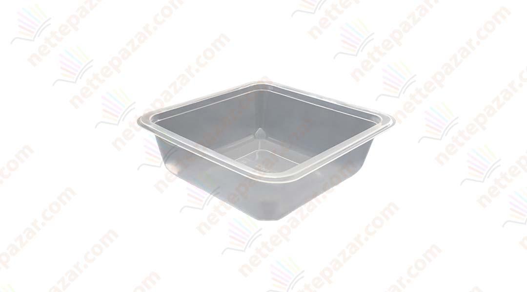 Transparent Food Tray 110x110x35 mm