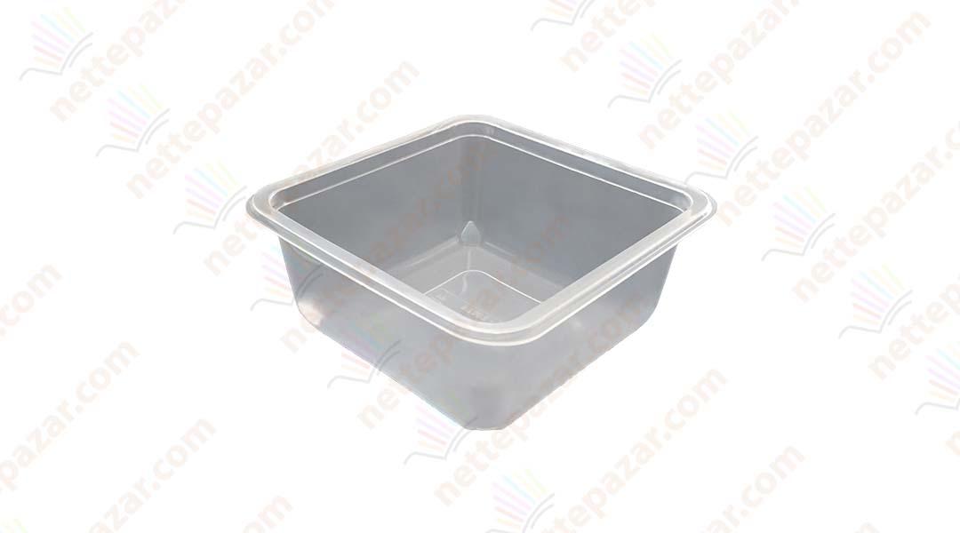 Transparent Food Tray 110x110x45 mm