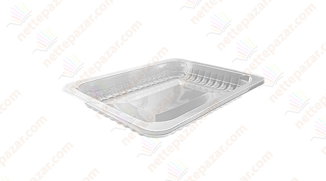Transparent Food Tray 190x144x17 mm
