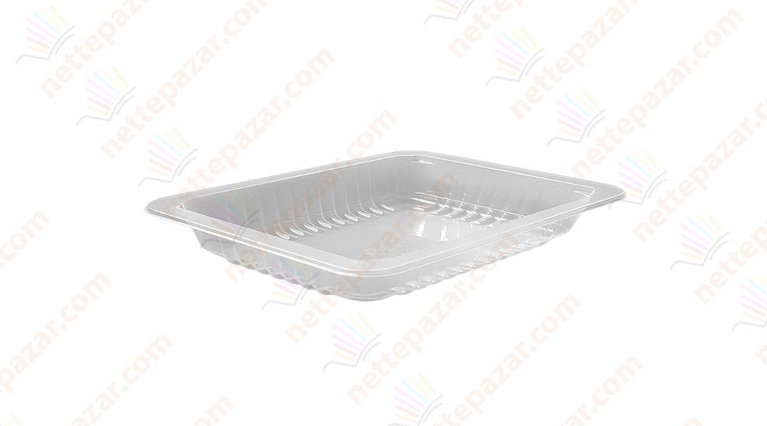 Transparent Food Tray 190x144x21 mm