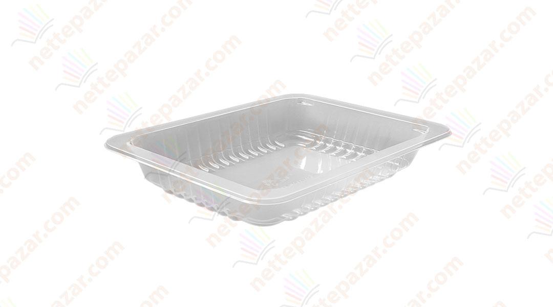 Transparent Food Tray 190x144x30 mm