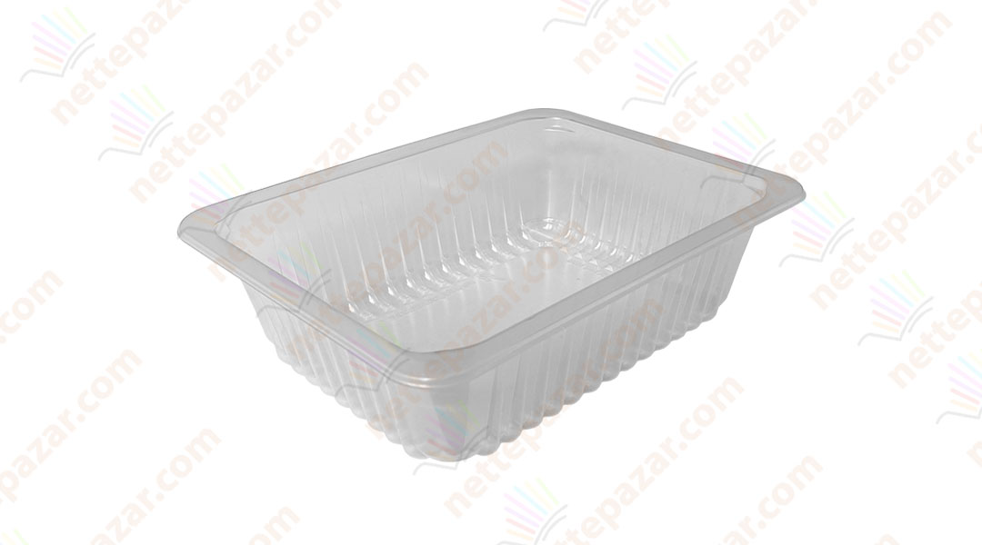Transparent Food Tray 190x144x65 mm
