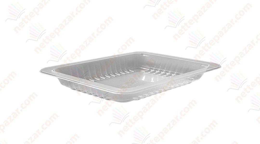 Transparent Food Tray 227x178x10 mm.