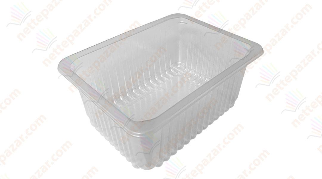 Transparent Food Tray 227x178x100 mm.