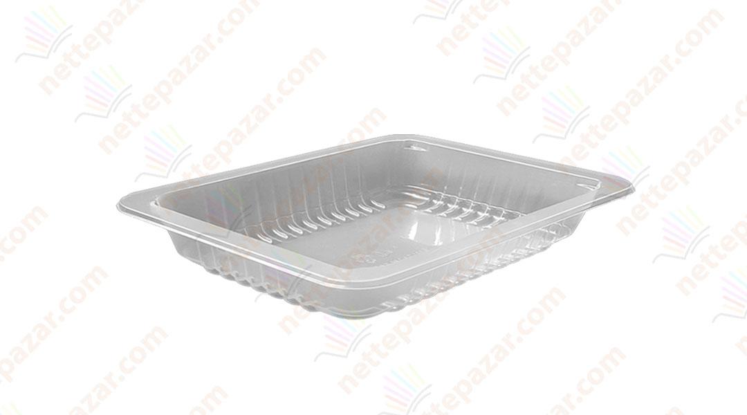 Transparent Food Tray 227x178x20 mm.