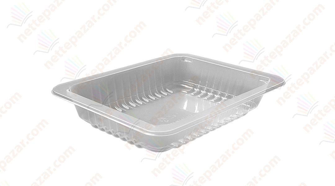 Transparent Food Tray 227x178x30 mm.