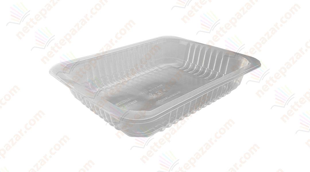 Transparent Food Tray 227x178x40 mm.