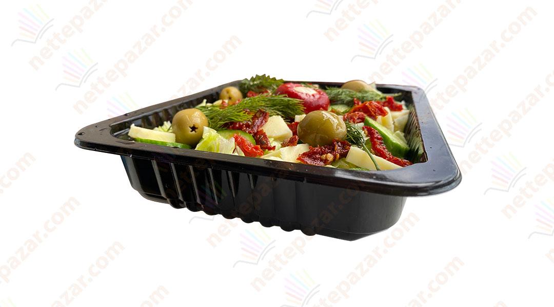 Black Food Tray 227x178x40 mm.