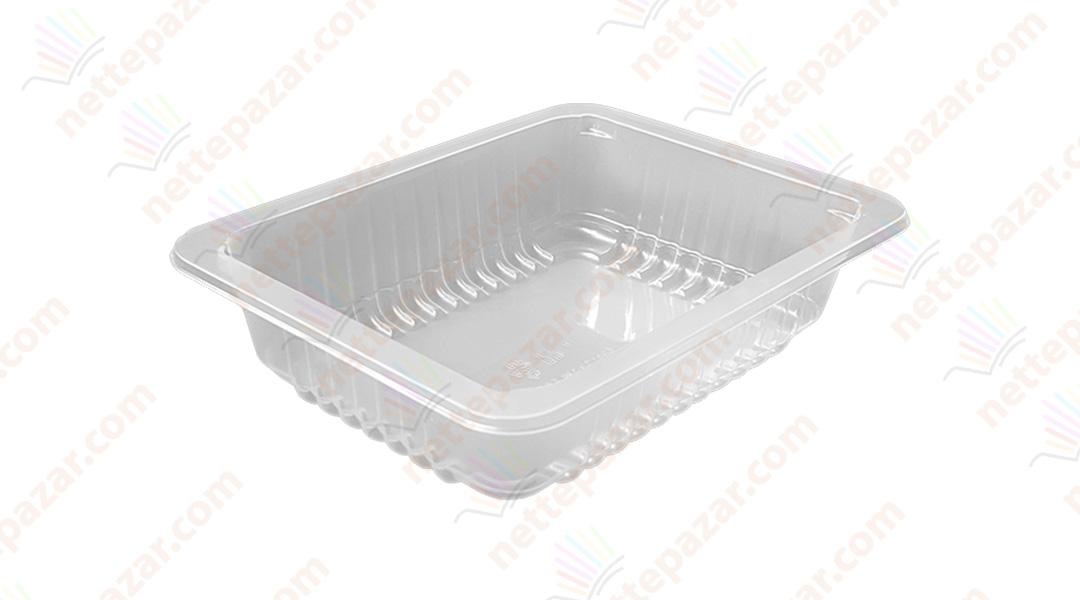 Transparent Food Tray 227x178x50 mm.
