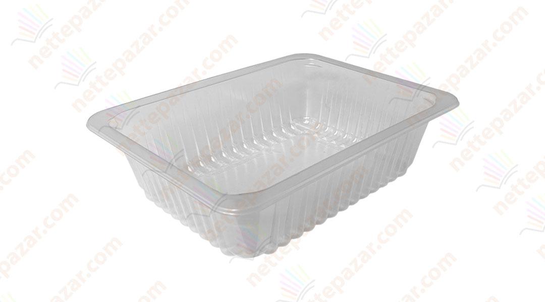 Transparent Food Tray 227x178x60 mm.