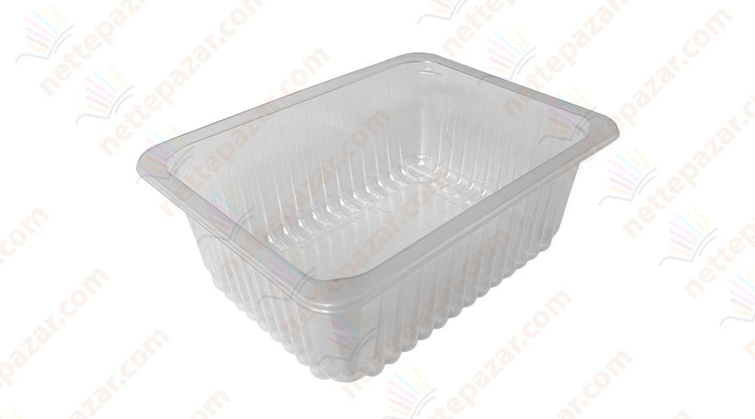 Transparent Food Tray 227x178x80 mm.