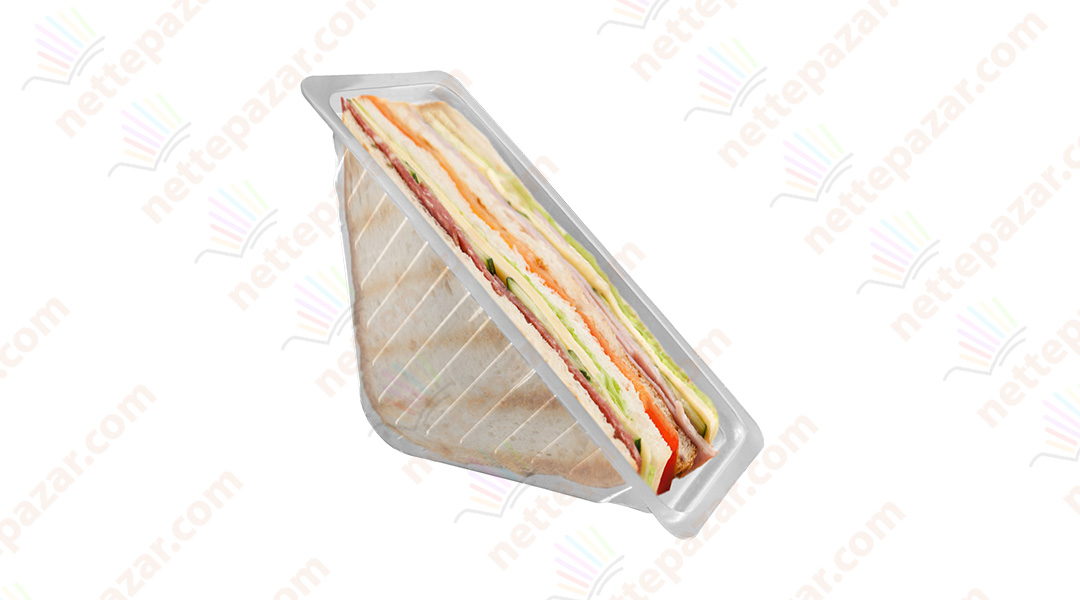 Transparent Triangle Sandwich Container 82x182x80